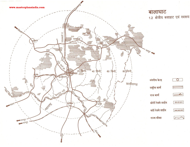 Balaghat Residential Area Map