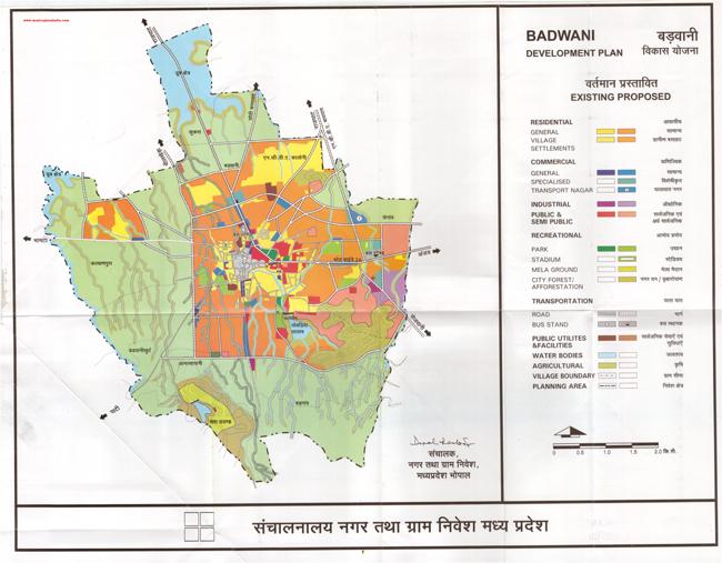 Badwani Master Development Plan Map