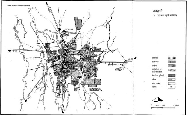 Badwani Existing Land Use Map