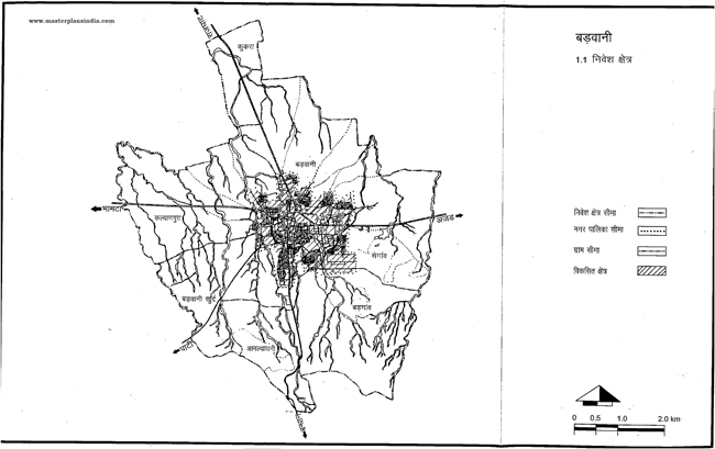Badwani Investment Area Map