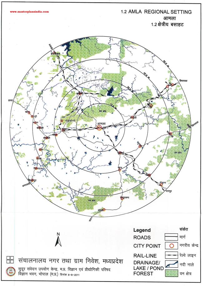 Amla Regional Location Map