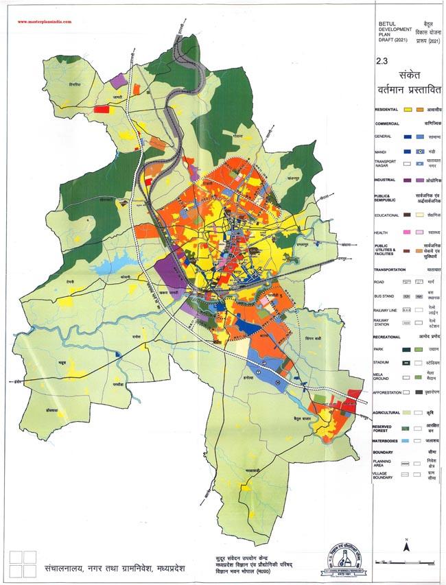 Betul Development Plan Map Draft