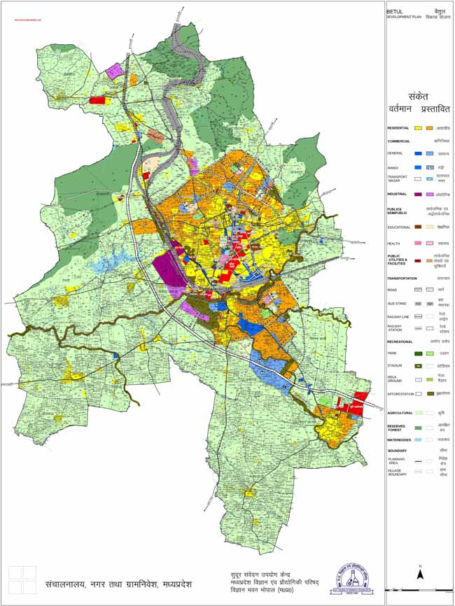 Betul Master Development Plan Map