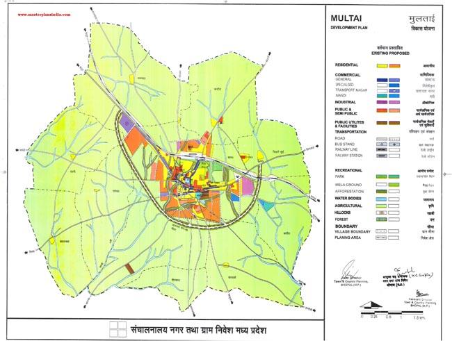 Multai Master Development Plan Map