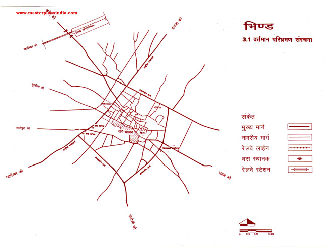 Bhind Existing Route Map