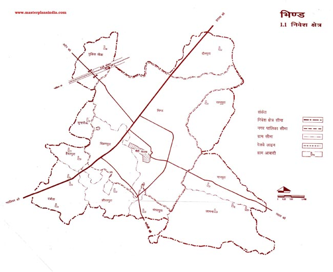 Bhind Investment Area Map