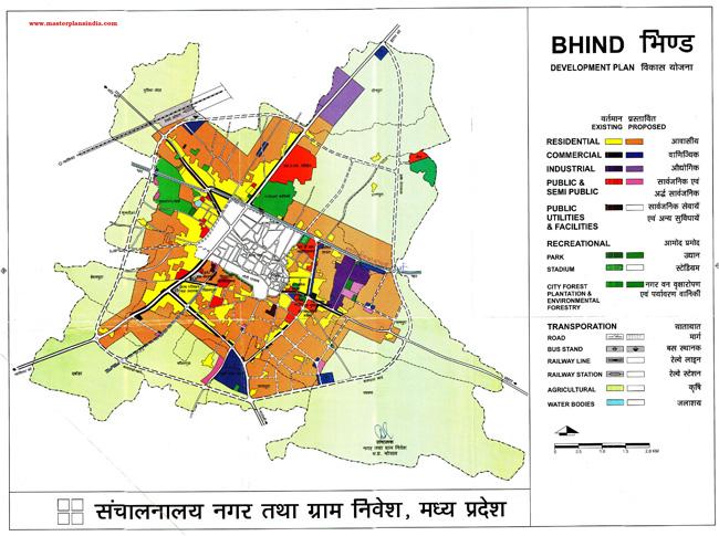 Bhind Master Development Plan Map