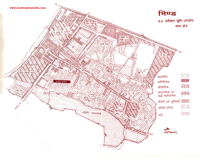 Bhind Middle Area Existing Land Use Map