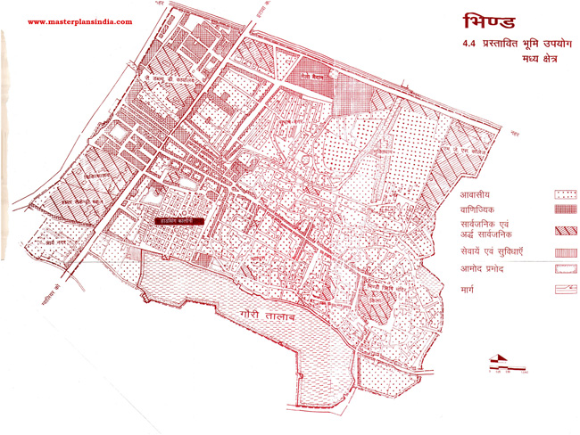 Bhind Middle Area Proposed Land Use Map