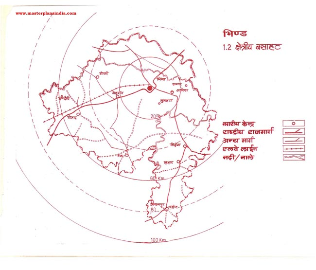 Bhind Residential Area Map