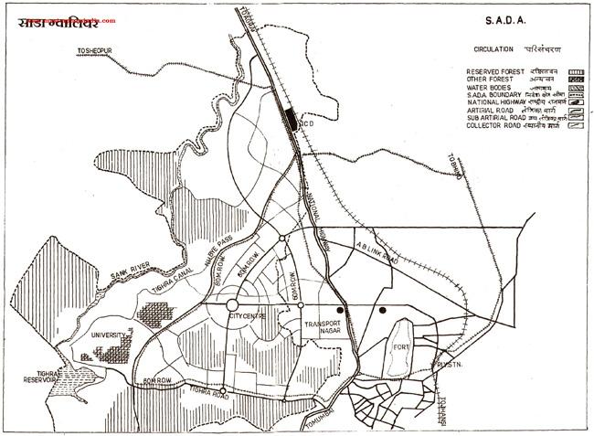 Sada Circulation Map