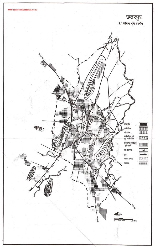 Chhatarpur Existing Land Use Map