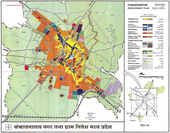 Chhatarpur Master Development Plan Map