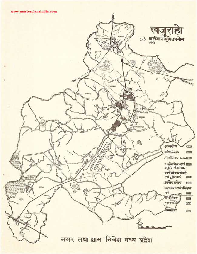Khajuraho Existing Land Use Map