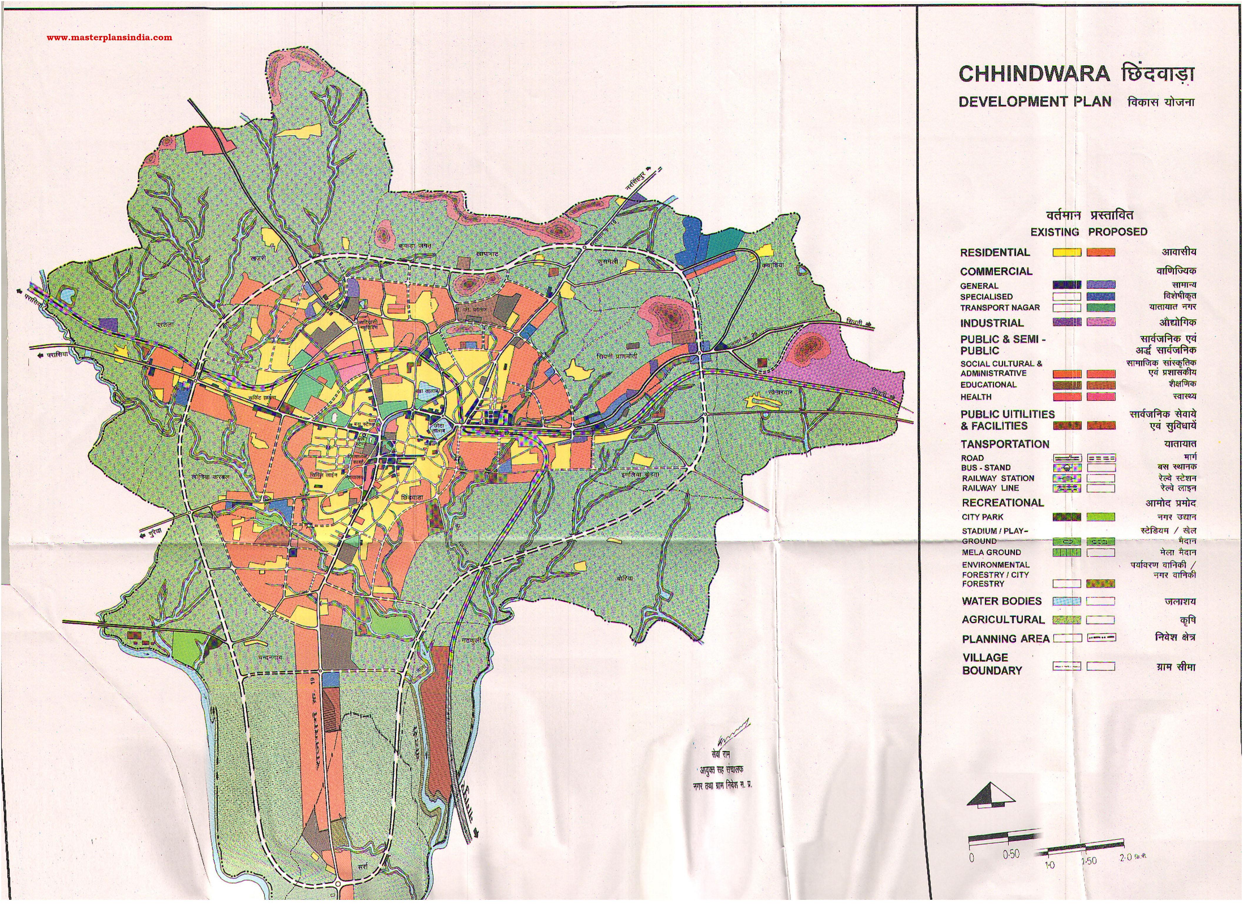 Chhindwara India  city images : Chhindwara Master Development Plan Map PDF Download Master Plans ...