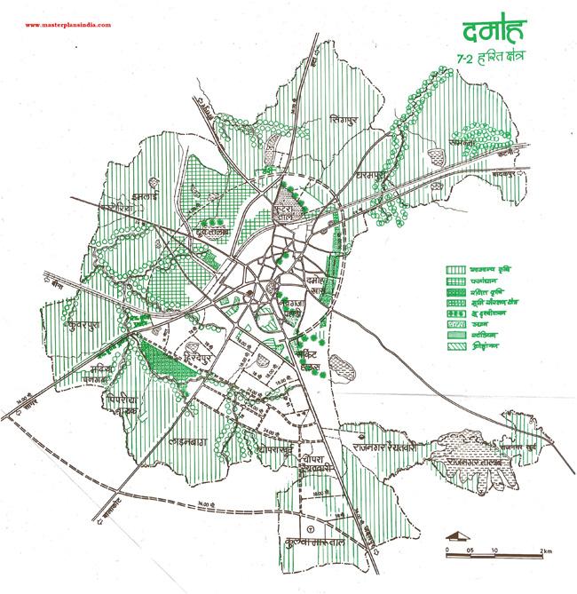 Damoh Green Area Map