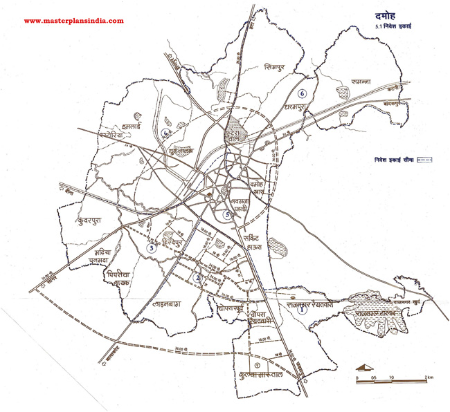 Damoh Investment Unit Map