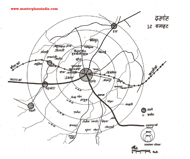 Damoh Residential Area Map