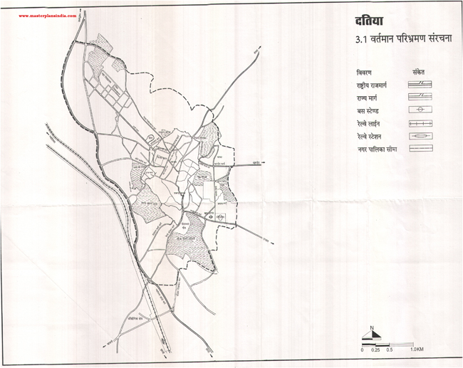 Datiya Existing Route Map