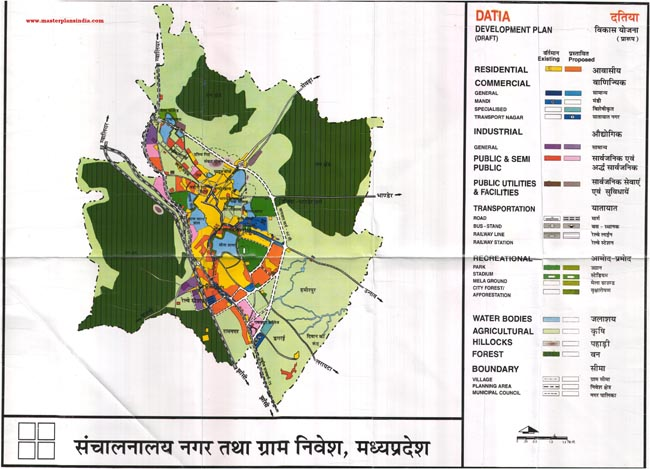 Datiya Master Development Plan Map Draft