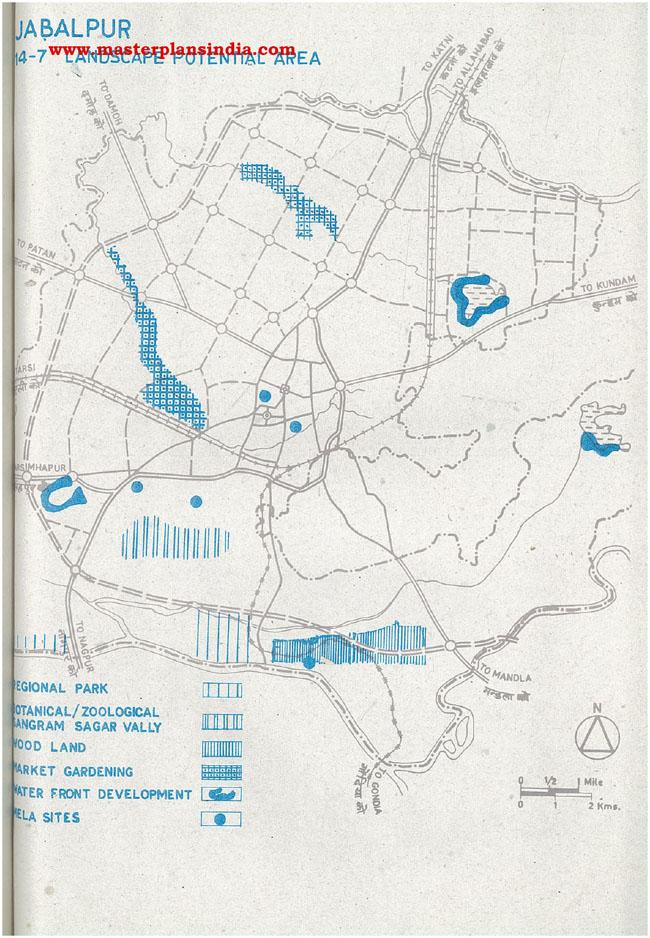 Jabalpur Landscape Potential Area Map