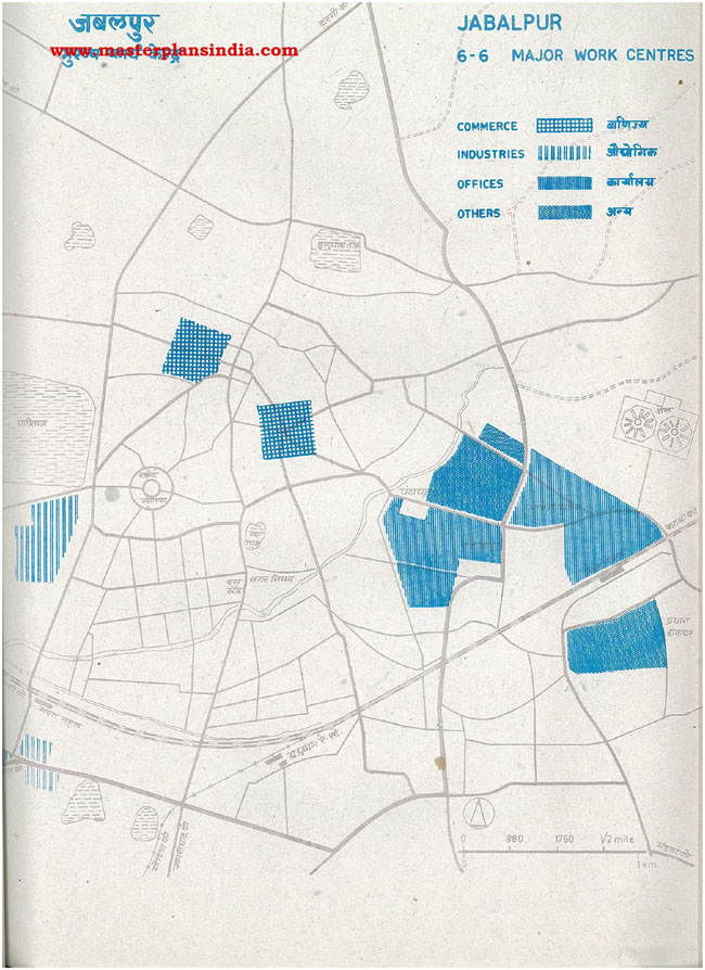 Jabalpur Major Work Centers Map