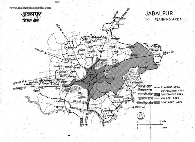 Jabalpur Planning Area Map 1