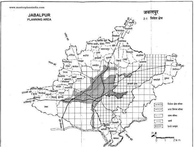 Jabalpur Planning Area Map 2