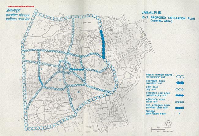 Jabalpur Proposed Circulation Plan Central Area Map