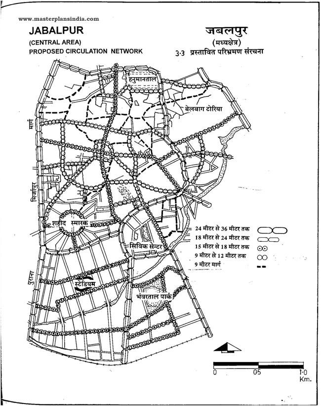 Jabalpur Proposed Circulation Network