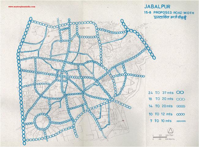 Jabalpur Proposed Roads Width