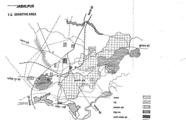 Jabalpur Senstive Areas Map