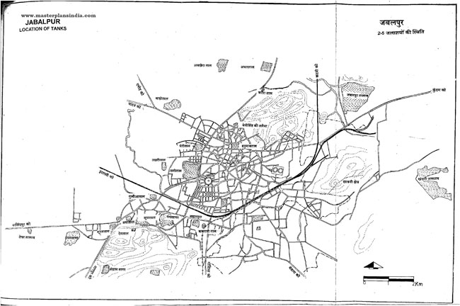 Jabalpur Tank Locations Map