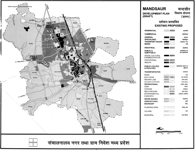 Mandsaur Development Plan Map Draft
