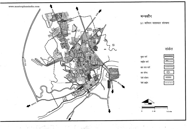 Mandsaur Existing Transportation Pattern