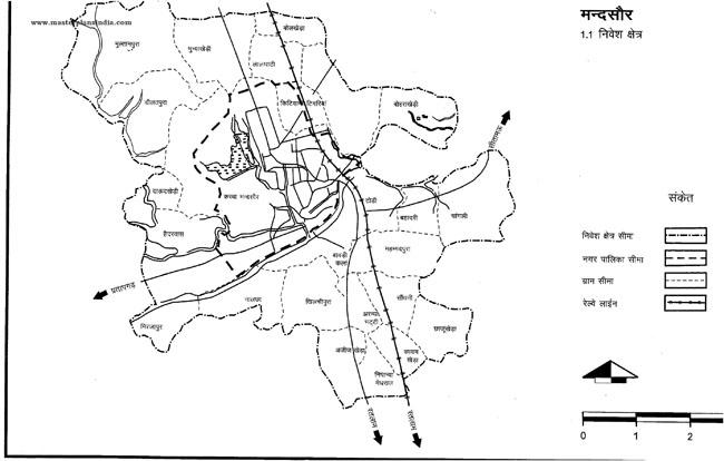 Mandsaur Investment Area Map