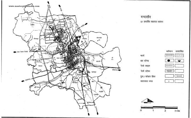 Mandsaur Proposed Transportation Pattern
