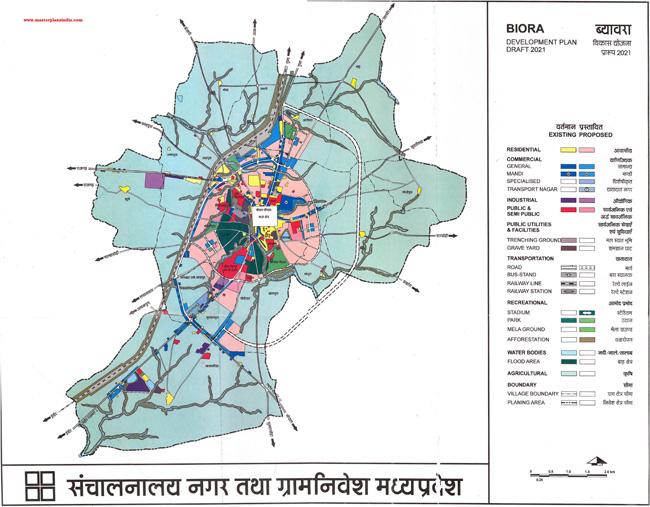 Biora Master Development Plan 2021 Map