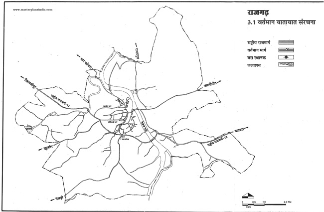 Rajgarh Existing Transportation Pattern