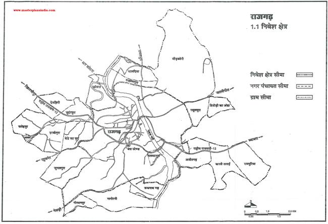 Rajgarh Investment Area Map
