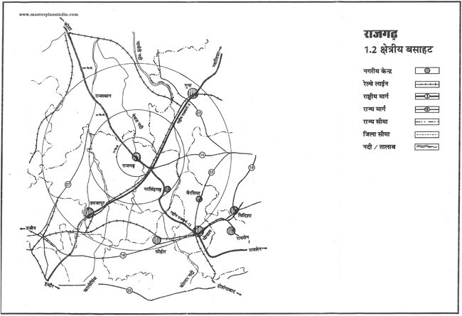 Rajgarh Regional Location Map