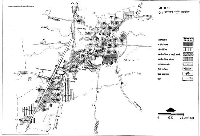 Jaora Existing Land Use Map
