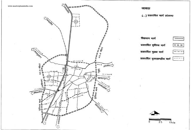 Jaora Proposed Road Pattern