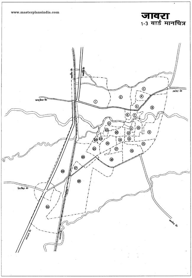 Jaora Ward Map