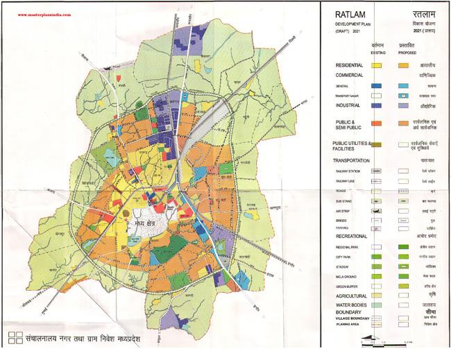 Ratlam Development Plan 2021 Map Draft