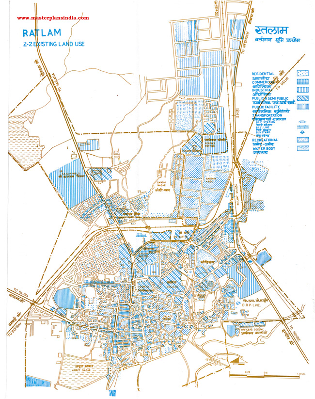 Ratlam Existing Land Use Map