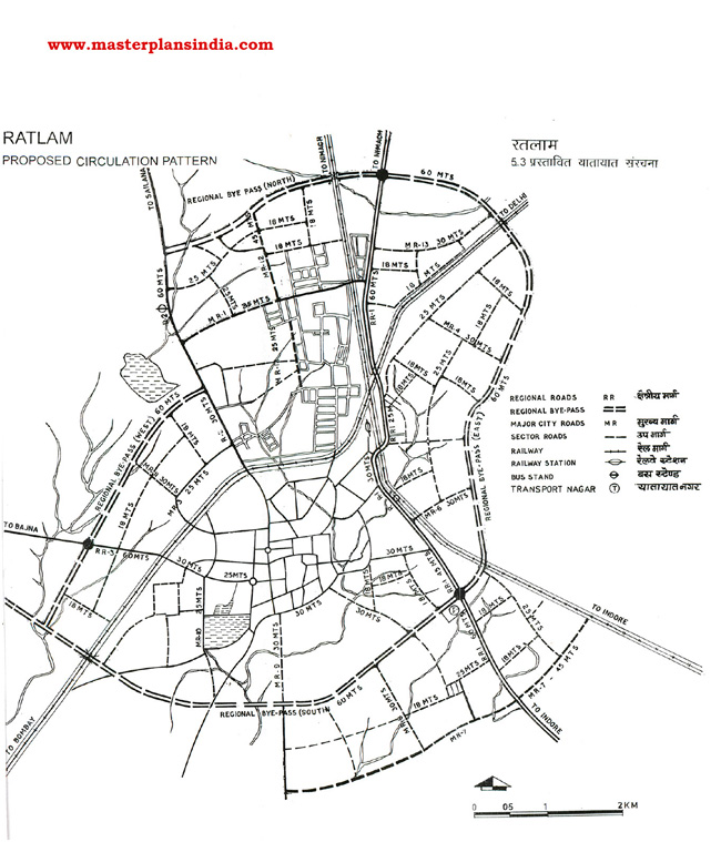 Ratlam Proposed Transportation Pattern