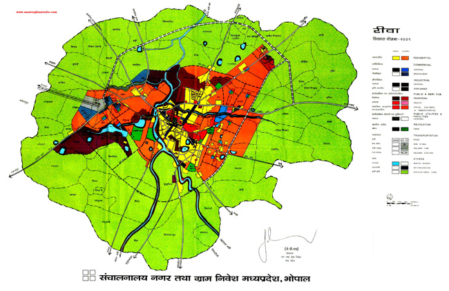 Rewa Master Plan Map 2001