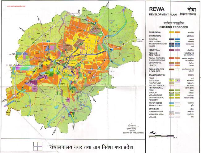 Rewa Master Plan Map
