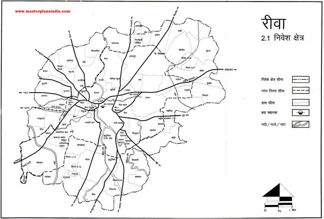 Rewa Plannig Area Map